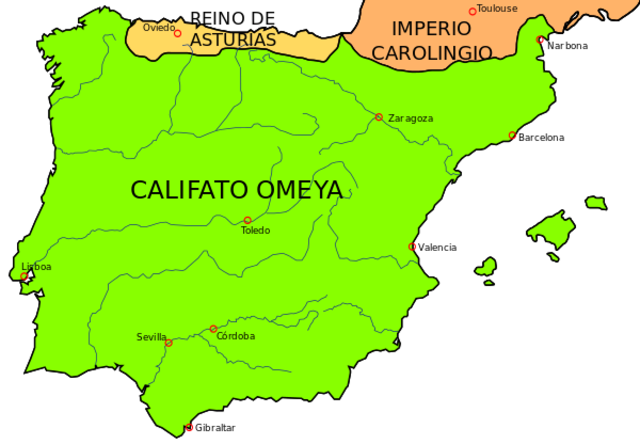 Al-andalus en 718