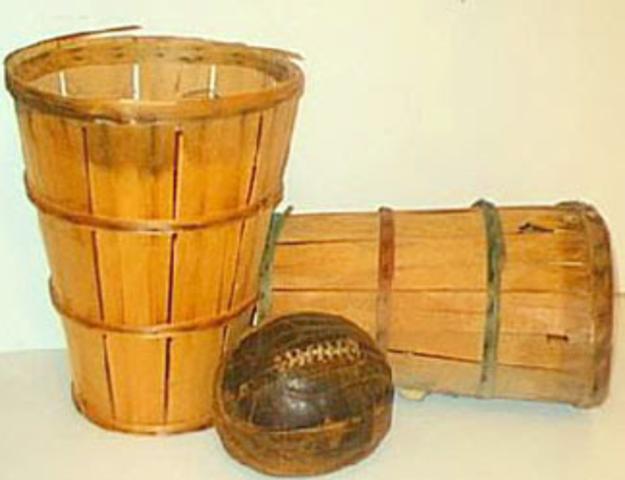 The First Basketball Hoop