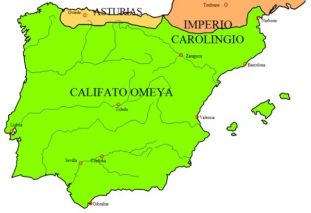 Provincia dependiente del Califato Omeya de Damasco (711-756)
