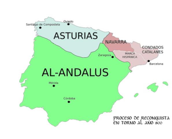 LOS REINOS CRISTIANOS  (711-1492)