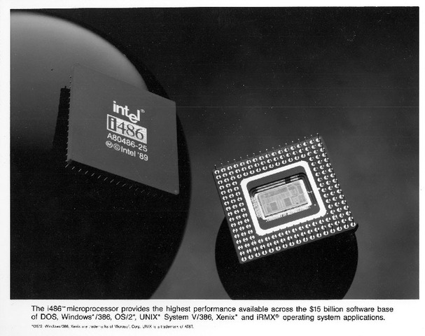 Intel introduces the 80486 microprocessor