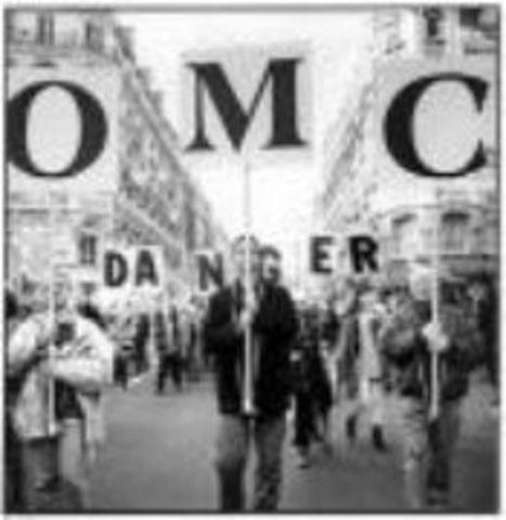 Protesta Segunda Cumbre Ministerial de la OMC y el Libre Comercio