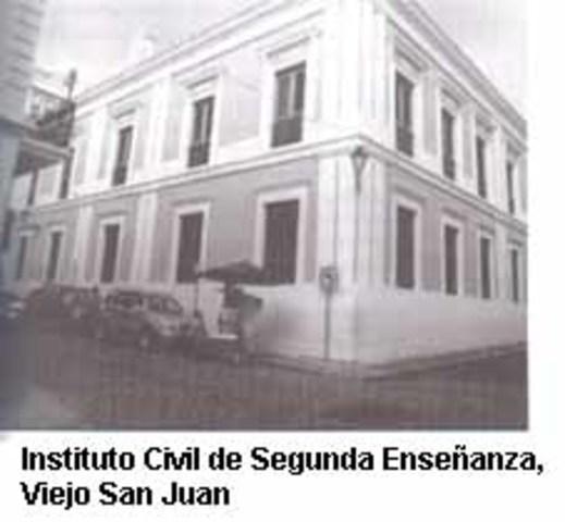 El Instituto Civil de Segunda Enseñanza