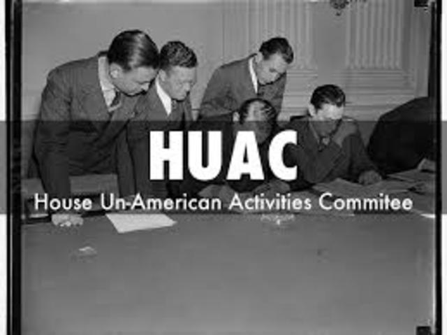 The House Un-American Acts Comittee forms
