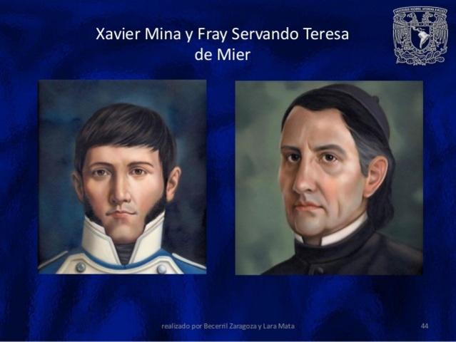 Xavier Mina y Fray Servando Teresa de Mier