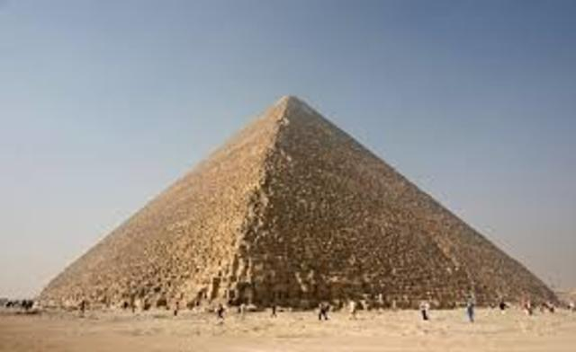 The Great Pyramid of Giza was built