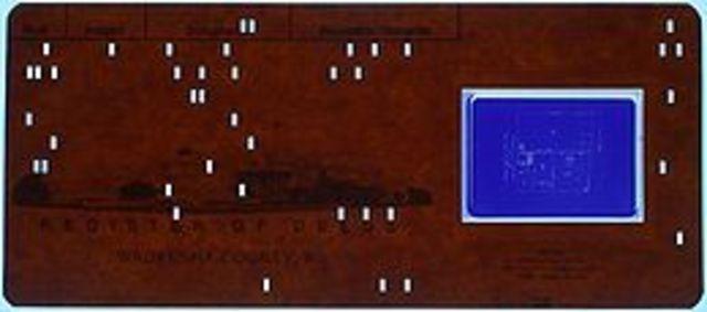 Uso de tarjetas perforadas