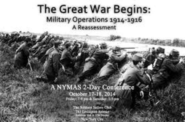 Great War begins