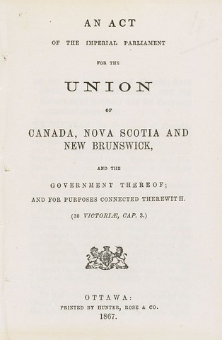 Signature of The British North America Act (BNAA)