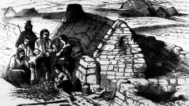 The Great Famine and the consequent emigration from Great Britain