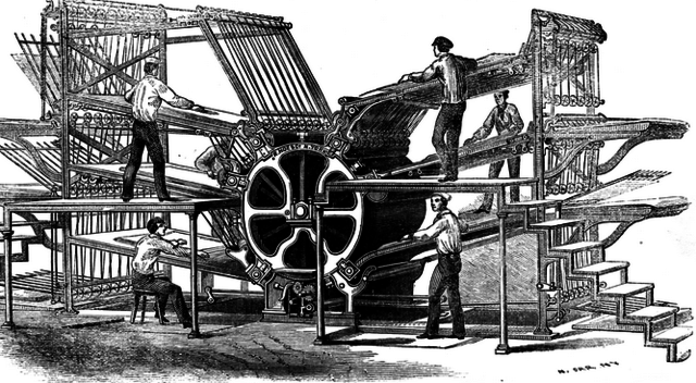 Lithographic Rotary Printing Press