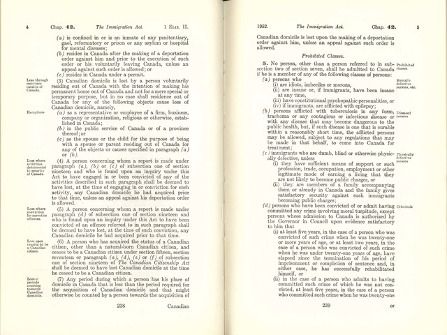 The Immigration Act of 1952
