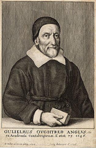 1622: Oughtred presenta la regla de cálculo
