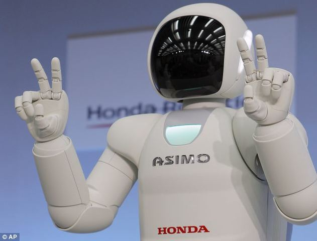 Sofistificación de robots industriales - ASIMO
