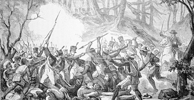 La batalla del monte de las cruces.