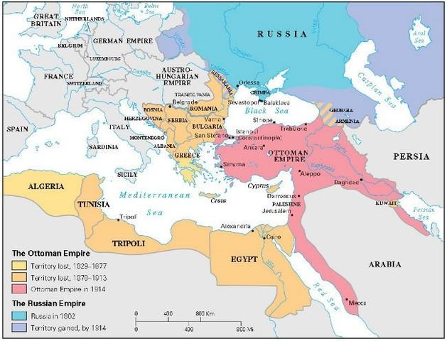 Imperio Turco Otomano se adentra en la guerra