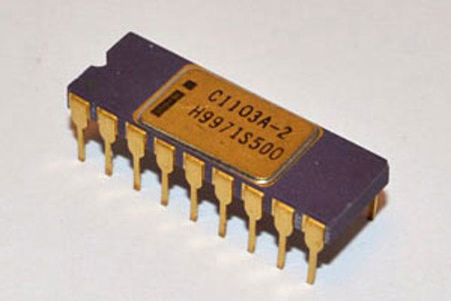 Primera memoria RAM de intel