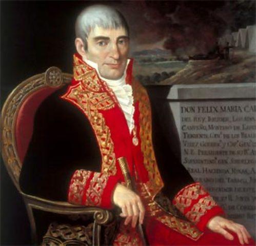 Félix María Calleja es nombrado Virrey de la Nueva España