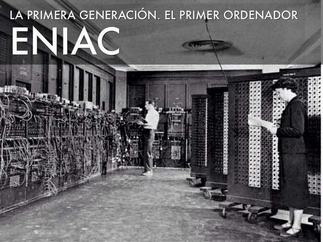 Presentación del ordenador de ENIAC.