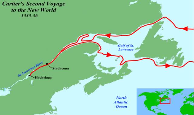 Jacques Cartier- first European explorer