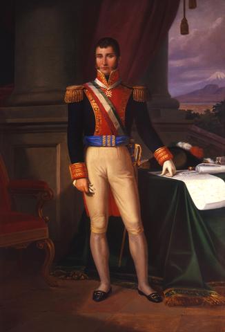 Iturbide como representante del ejército realista