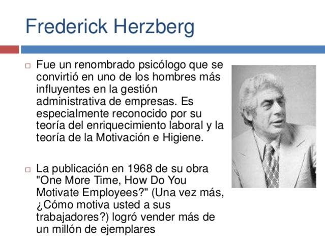 Ciencias del Comportamiento Frederick Herzberg