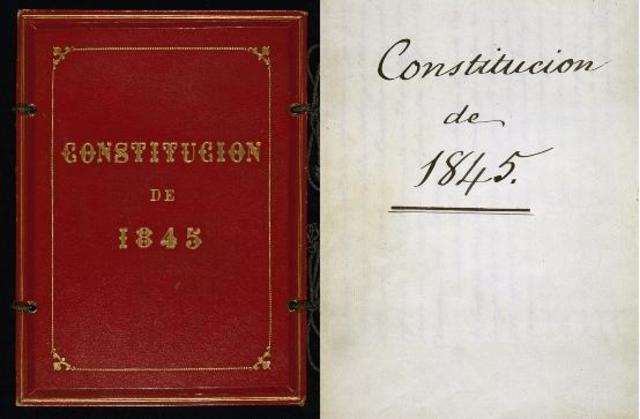 Aprobación de la Constitución de 1845