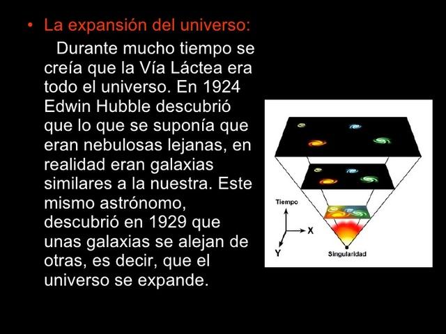 EL UNIVERSO ESTA EN EXPANCIÓN