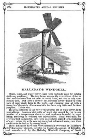 1854 - Halladay Windmill