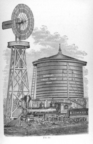 1850s - Windmill Becomes Popular Water Pumping Tool of Western Homesteaders and Railroad Builders