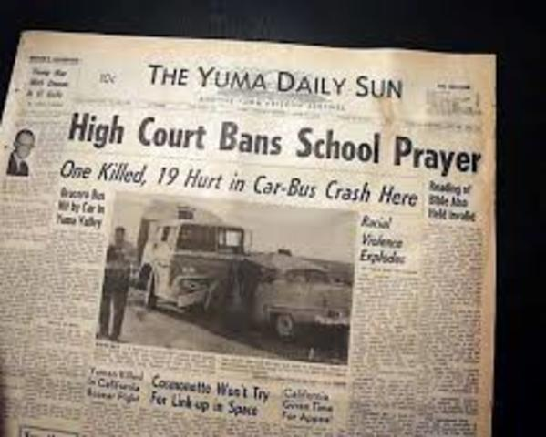 Bible's and Prayer Unconstitutional