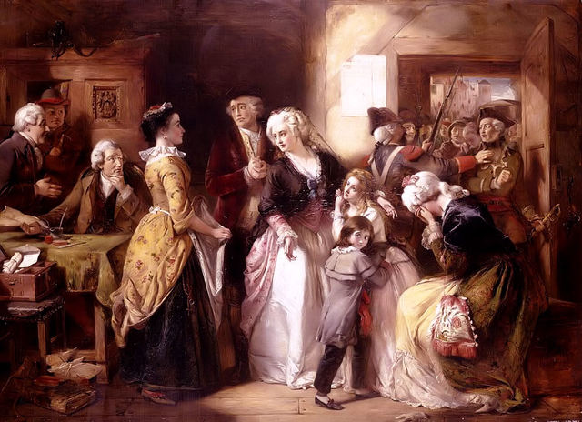Royal family flees to Varennes