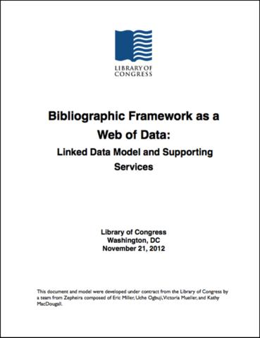 BIBFRAME Primer published