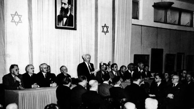 Israel Declares Its Independence, despite Palestine objecting