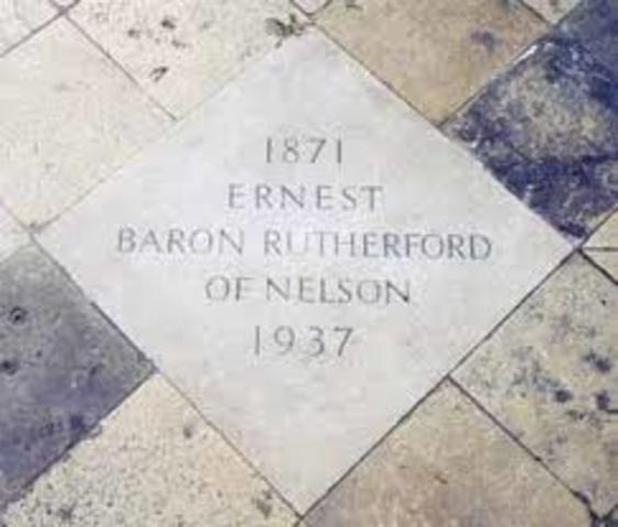 Death of Ernest Rutherford
