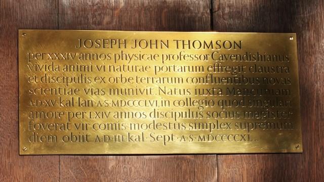 Death of J.J. Thomson