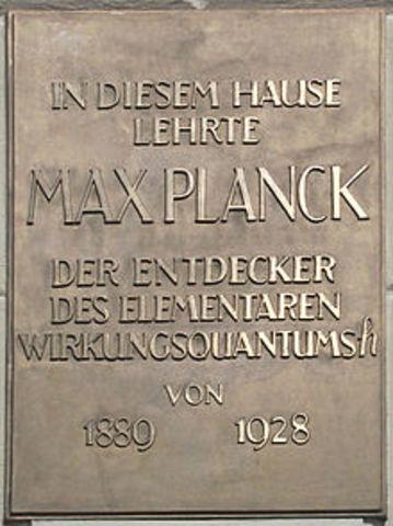 Death of Max Planck