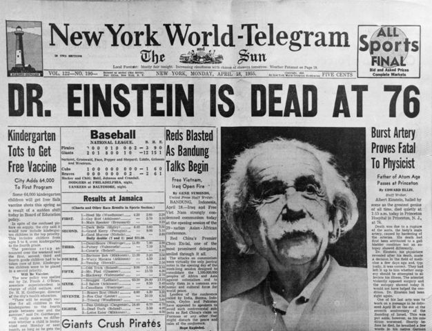 Death of Albert Einstein