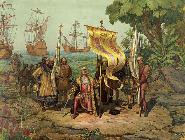 Columbus Lands in New World