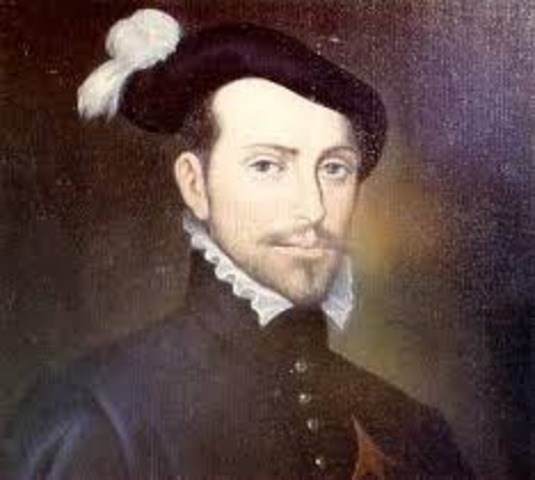 Hernando Cortés arrives in the New World