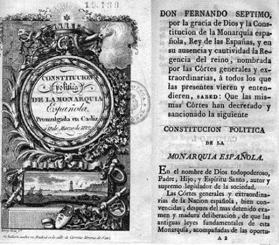 Constitución de Cádiz 1812 ( LA PEPA)