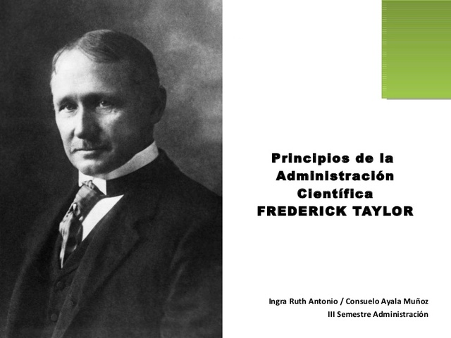 FREDERIC TAYLOR