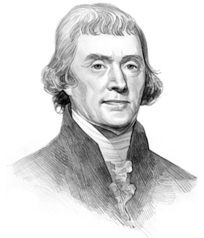 Thomas Jefferson Pens Entry on Lewis