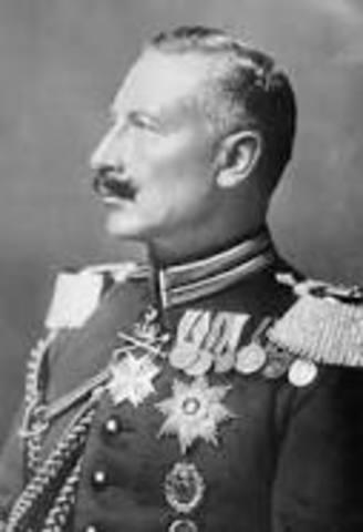 Kaiser Wilhelm Abdicates his throne