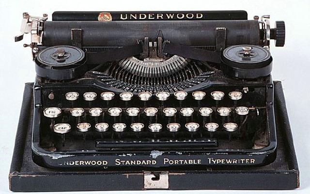 First QWERTY typewriter