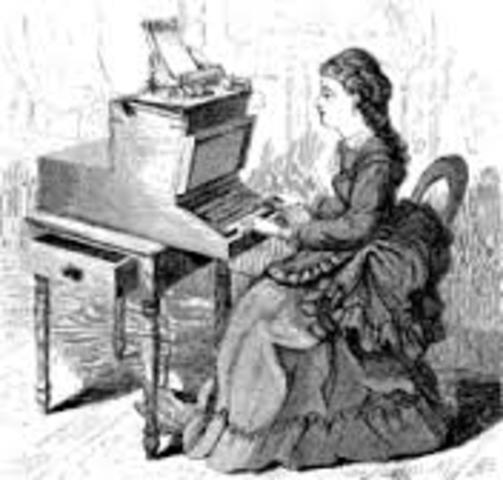 Máquina de escribir (primera comercial)