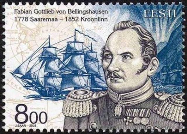 Bellingshausen Crosses the Antarctic Circle