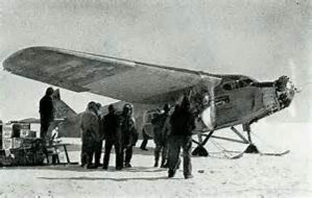 First to Fly Over Antartica