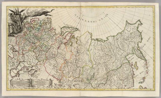 Создана первая карта Российской Империи