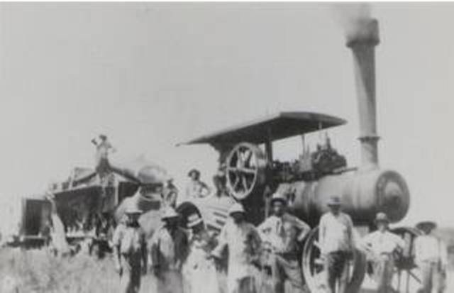 trilladora de vapor